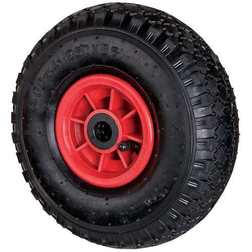 Roda em borracha para transportadores – Capacidade: 150kg