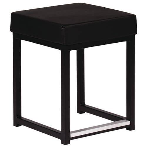 Banco Kubo Cube – estrutura e assento em imitação de couro