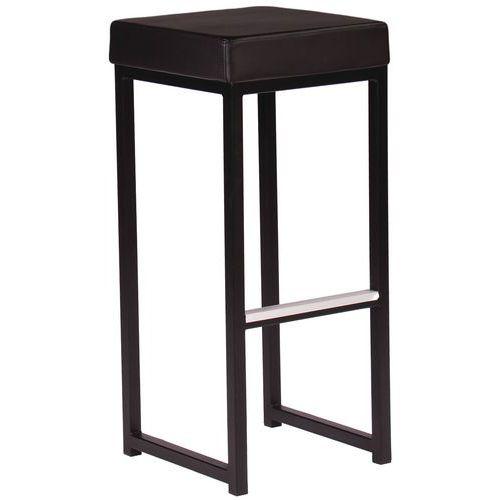 Cadeira alta Kubo Bar – estrutura e assento em imitação de couro