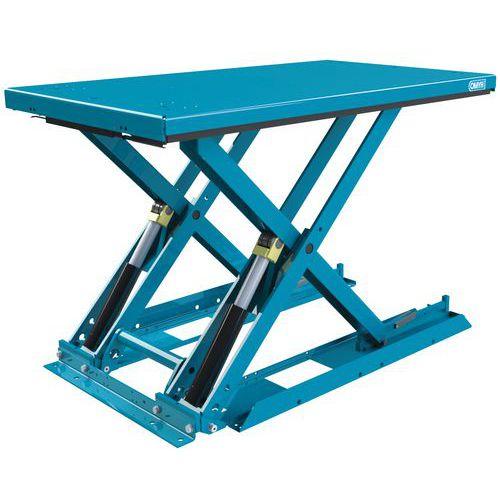 Mesa elevatória ergonómica, fixa e extraplana MX-20 – Capacidade: 2000kg
