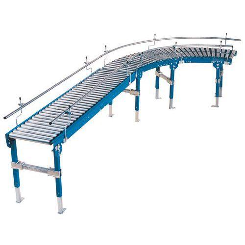Curva de transportador gravítico TRS com rolos em aço – Somefi