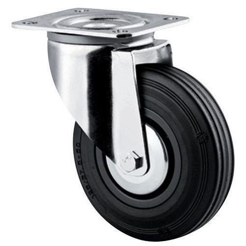 Rodízio giratório com placa - Capacidade de 40 a 205 kg