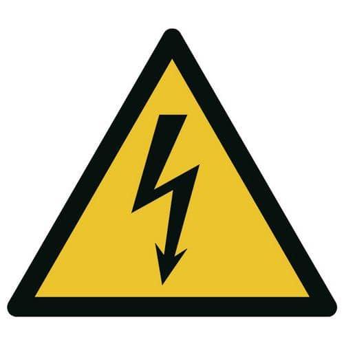 Painel de perigo - Tensão elétrica - Rígido