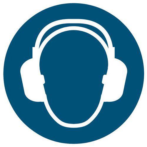 Painel de obrigação - Uso de proteção acústica obrigatório - Rígido