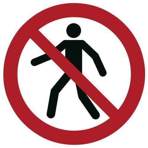 Painel de proibição - Passagem proibida a peões - Rígido