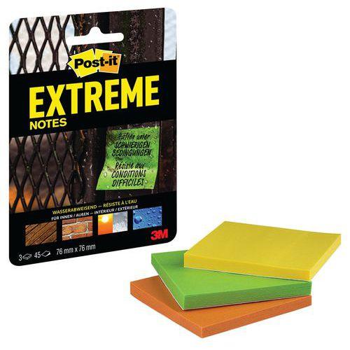 Conjunto 3 blocos de notas Post-it® Extreme – cores sortidas