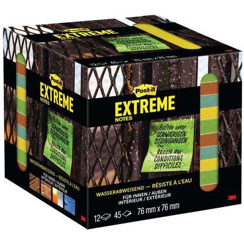 Torre de 12 blocos de notas Post-it® Extreme – cores sortidas