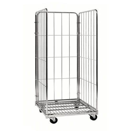 Contentor móvel - Base aço zincado - Capacidade 400 kg