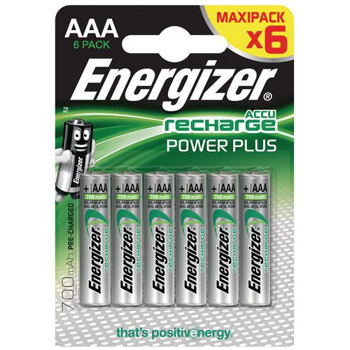 Pilha pré-carregada Power Plus AAA – 700mAh – conjunto de 6 – Energizer
