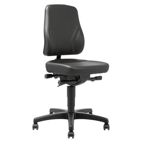 Cadeira de oficina ergonómica Manutan – Modelo baixo, com rodas – Manutan