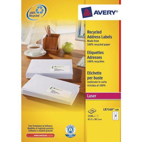 Etiqueta reciclada Avery – Impressão a laser