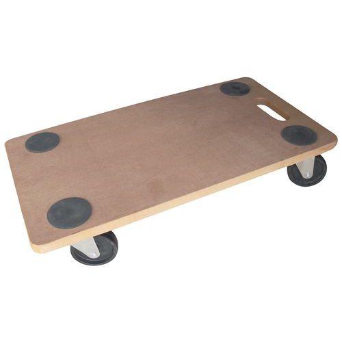 Plataforma móvel em madeira - Acabamento bruto - Capacidade 200 kg