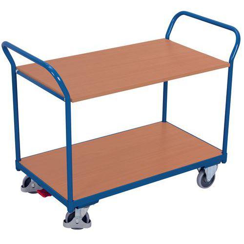 Carro de plataformas – 2 plataformas em madeira – Capacidade de 200kg