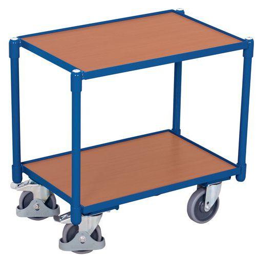 Carro de 2 plataformas em madeira para caixa conforme a norma europeia – Capacidade: 250kg