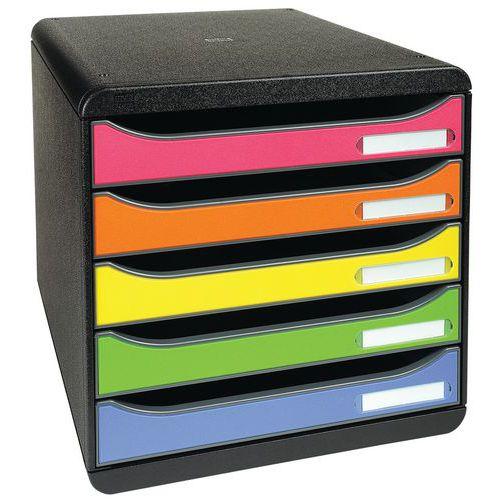 Módulo de arquivo Big Box Plus, multicolor, 5 gavetas – Exacompta