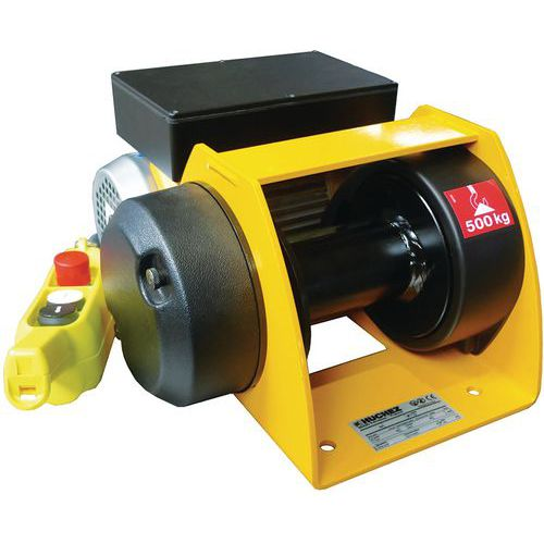 Guincho de elevação e reboque Motorbox, baixa tensão – Capacidade de 150 a 500kg