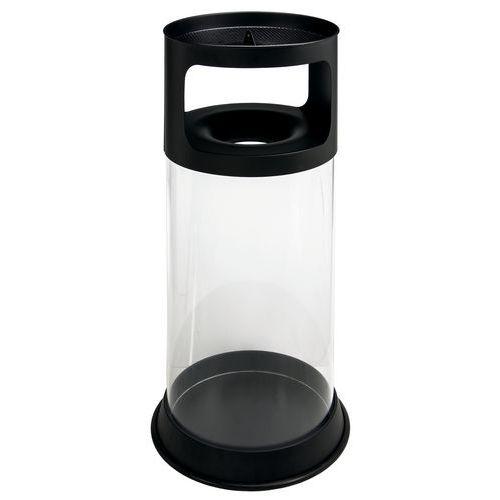 Cinzeiro/cesto antifogo com cinzeiro transparente de 80L