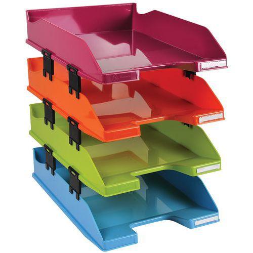 Conjunto de 4 cestos de correio Combo em cores sortidas