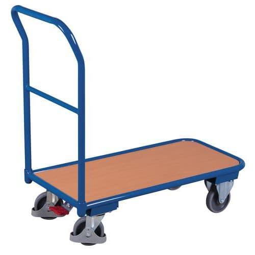 Carro com espaldar em aço – plataforma melaminada – capacidade de 200kg