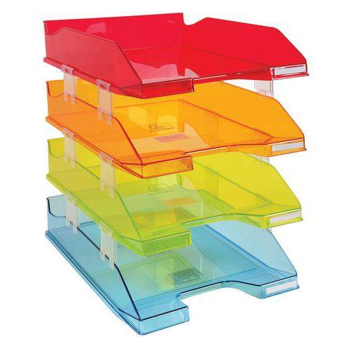 Cesto de correio Comb em cores transparentes sortidas – Exacompta