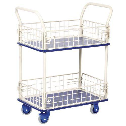 Carro de plataformas gradeadas - 2 plataformas - Capacidade 150 kg