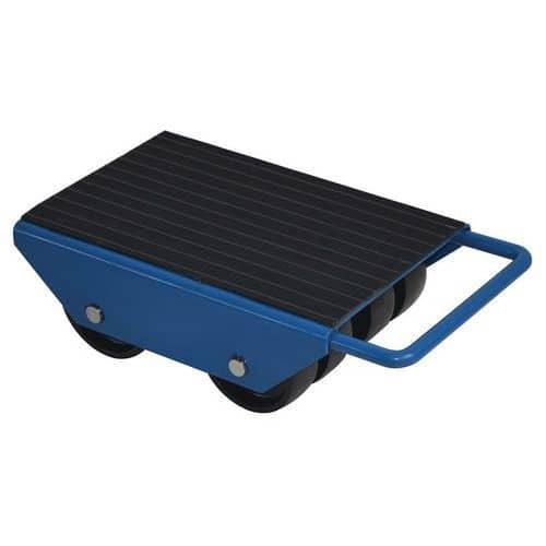 Base rolante com roletes fixos – 8 roletes – capacidade de 2000kg