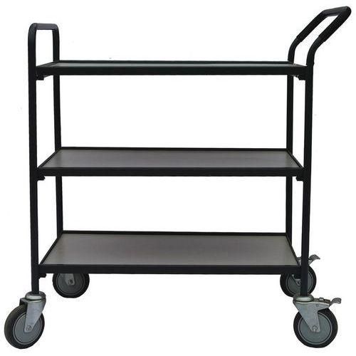 Carro de plataformas em madeira – 3 plataformas – capacidade de 200kg