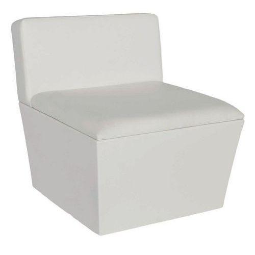 Assento Conic Lounge com base e assento – imitação de couro branco