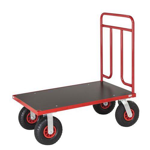 Carro com espaldar tubular modulável – Rodas pneumáticas – Capacidade: 500kg