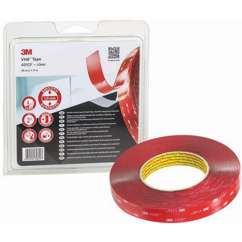 Fita adesiva de espuma acrílica de dupla face transparente VHB™ – 4910 F – 3M