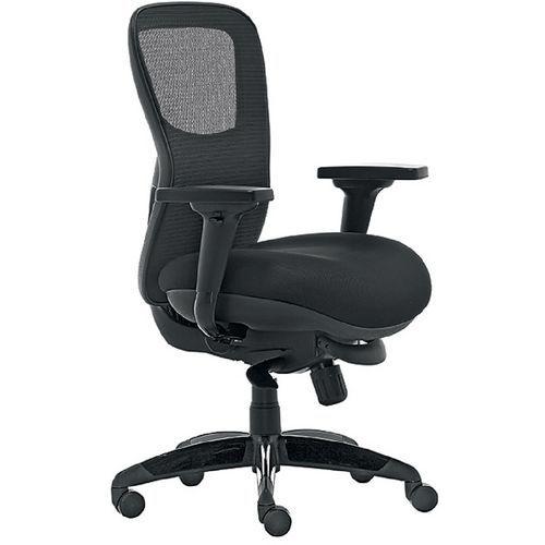 Cadeira de escritório ergonómica síncrona Athos -– preto