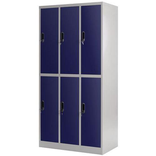 Cacifo multicompartimentos com cabides – 3 colunas – Com base – Para montar – Manutan