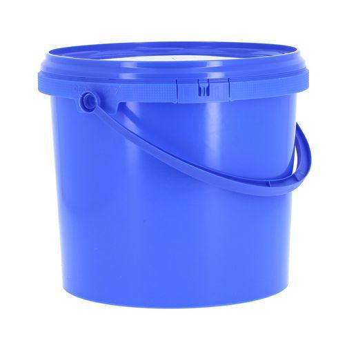 Balde de plástico redondo com tampa – 5L