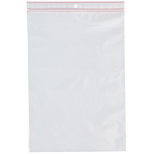 Saqueta em PE Minigrip® 60µ 100x100 (rolo de 100 saquetas)