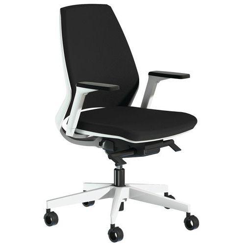 Cadeira de escritório Oxygen com espaldar médio estofado e apoio para braços regulável