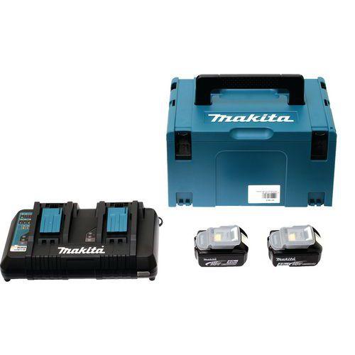 Conjunto de energia de 18V com maleta MAKPAC – Makita