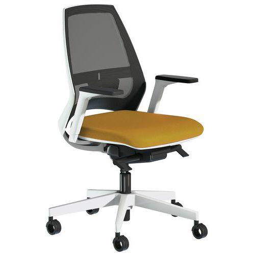 Cadeira de escritório em rede com apoio para braços regulável Oxygen