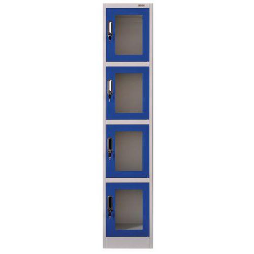 Cacifo com porta transparente e 4 compartimentos – Manutan
