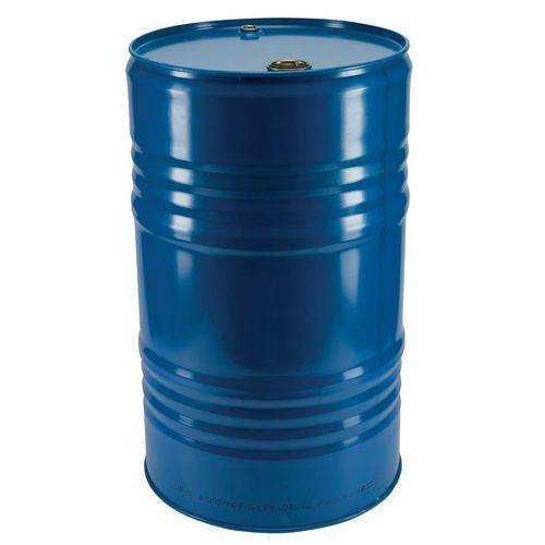 Bidão de aço, 30L, azul, com 2 bujões, envernizado, indústria alimentar