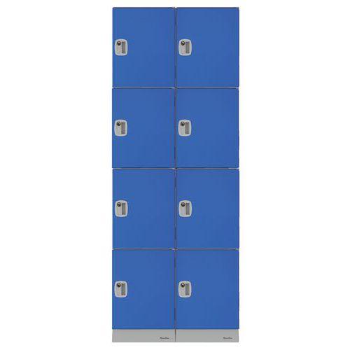 Cacifos de plástico multicompartimentos – compartimentos com 474mm de altura – de montar – Manutan