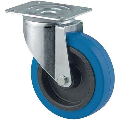Rodízio giratório com placa - Capacidade de 250kg