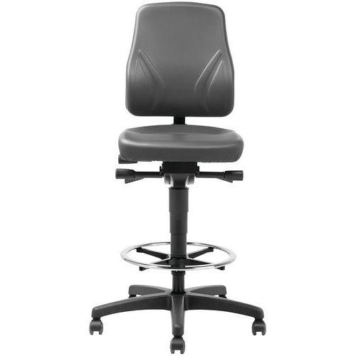 Cadeira de oficina ergonómica – modelo alto, com rodízios de bloqueio automático