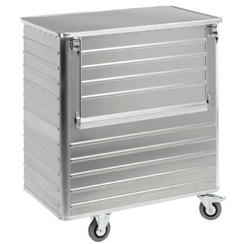 Carro-contentor em alumínio – painel semirrebatível – capacidade de 355L a 1050L