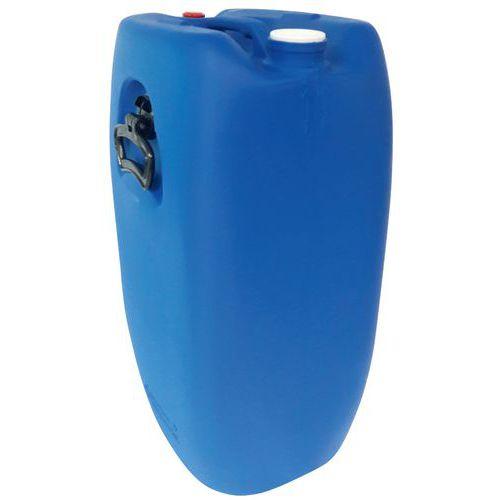 Bidão de 60L, azul, retangular, com 2 bujões homologados