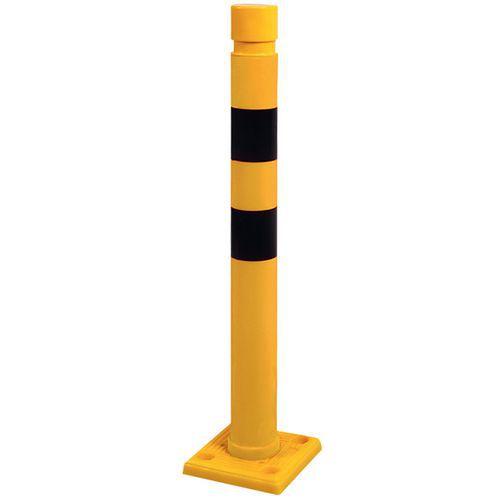 Poste amarelo e preto – Ø 80mm – 750mm de altura