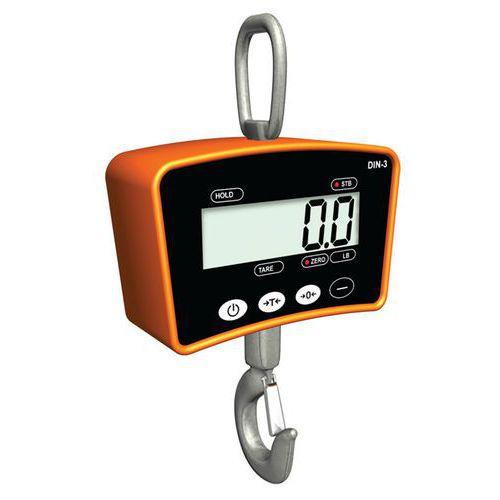 Dinamómetro eletrónico com gancho – DIN - Timber