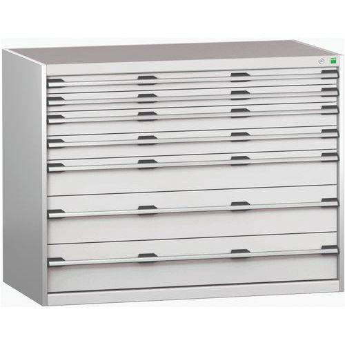 Armário de gaveta SL-13710-7.2 com 7 gavetas para carga pesada
