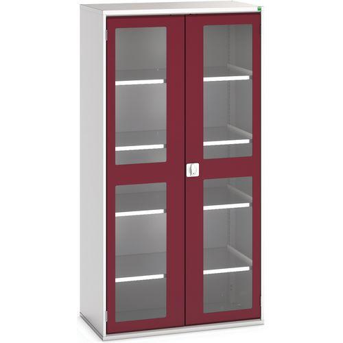 Portas transparentes do armário Verso com 4 prateleiras 1050x550x2000