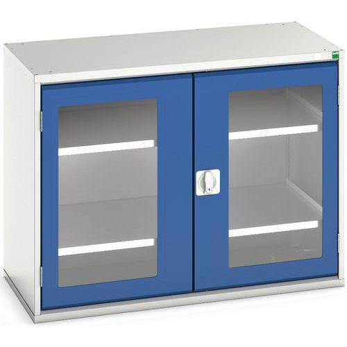 Portas transparentes do armário Verso com 2 prateleiras 1050x550x800