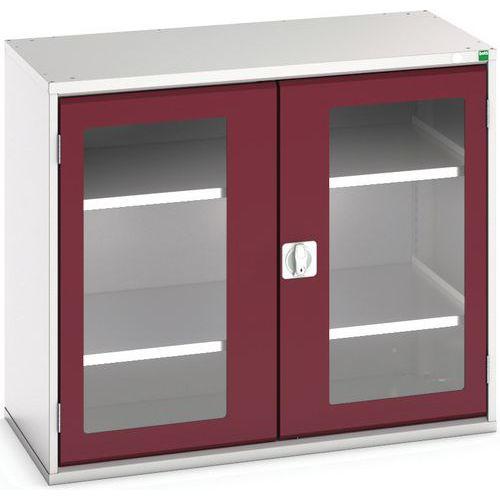 Portas transparentes do armário Verso com 2 prateleiras 1050x550x900